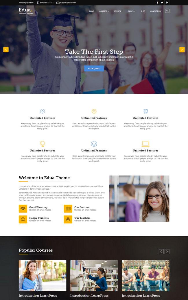 响应式教育机构HTML5模板